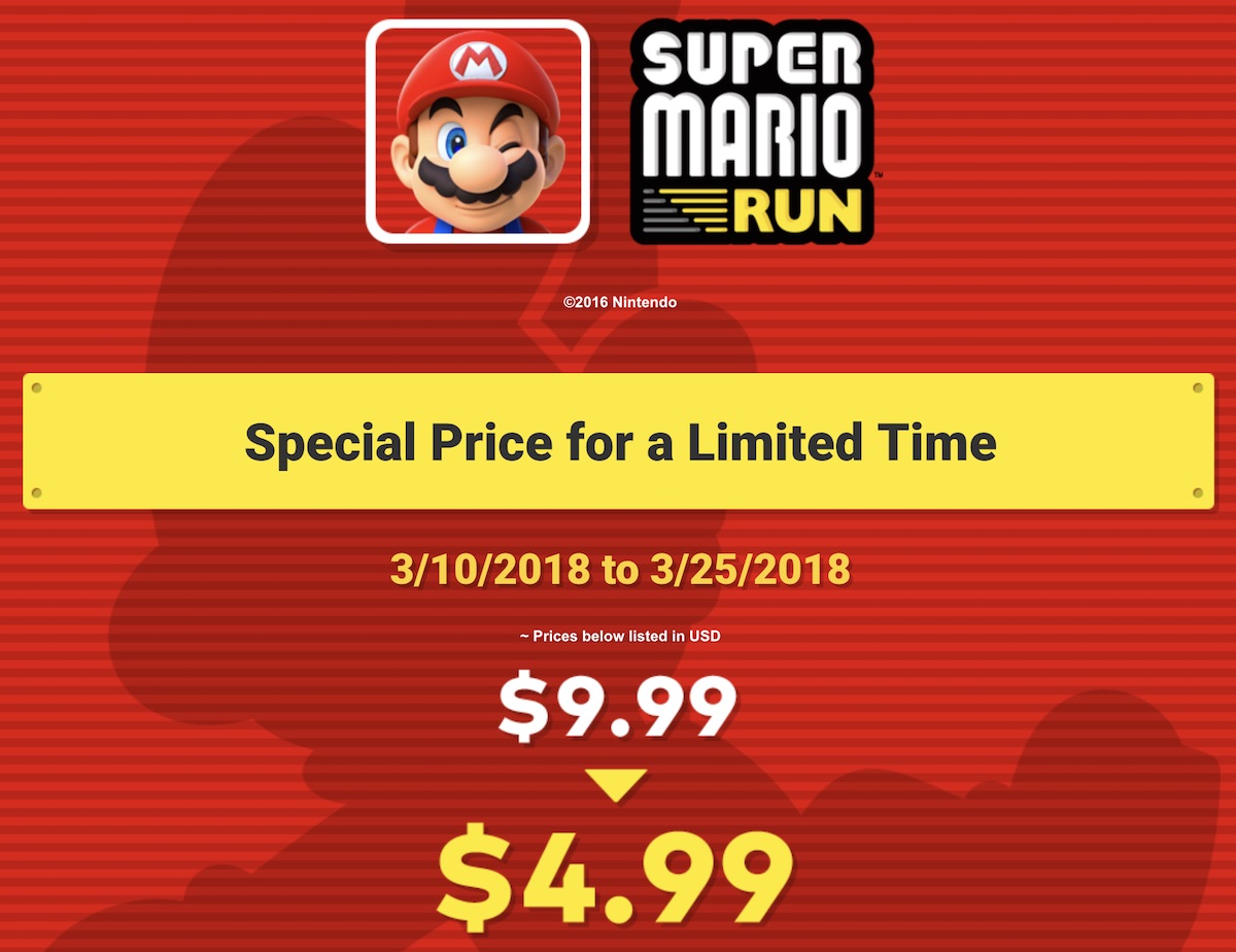 6119fe4e2b65e Nintendo Celebrating Mario Day With 50% Price Drop on 'Super Mario ...