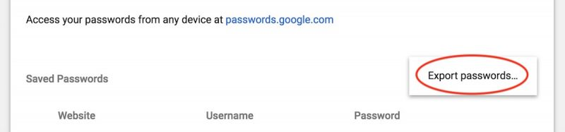 How to Export Your Passwords and Login Data From Google