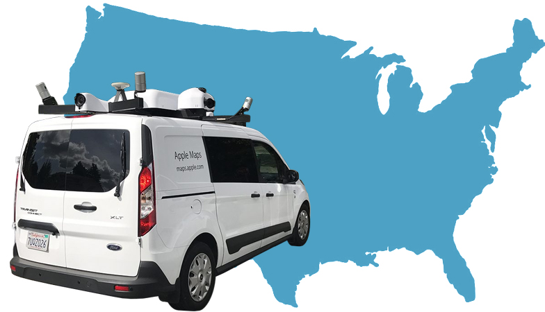 Apple Maps Vehicles Have Now Collected Street View Data in