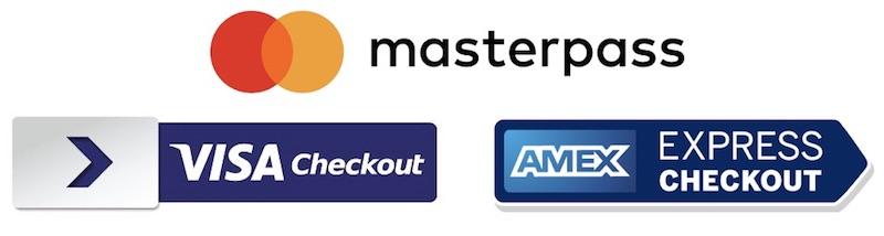 Visa Mastercard American Express Paypal