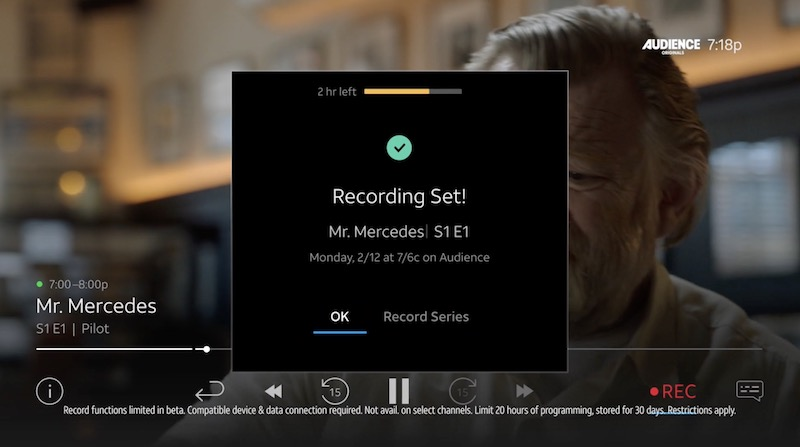 DirecTV Now Launches Cloud DVR With 20 Hours of Storage at