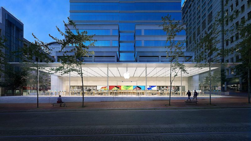 9d318df4faf Apple Store at Pioneer Place in Portland. The Oregonian via Patently Apple  reports that the offices are located in Washington County, near the border  ...