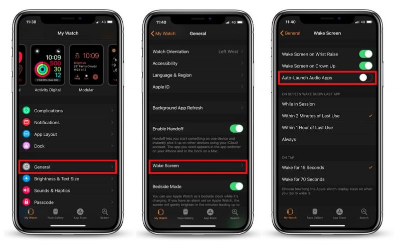 How to Stop Your Apple Watch From Launching the 'Now Playing
