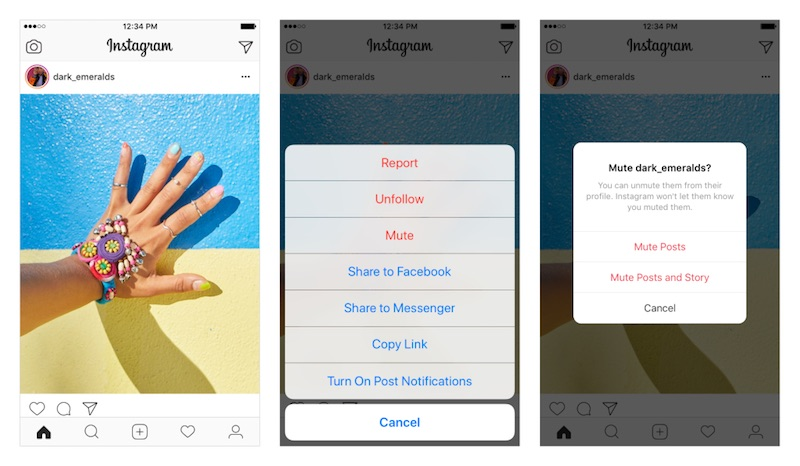 Image result for instagram mute posts