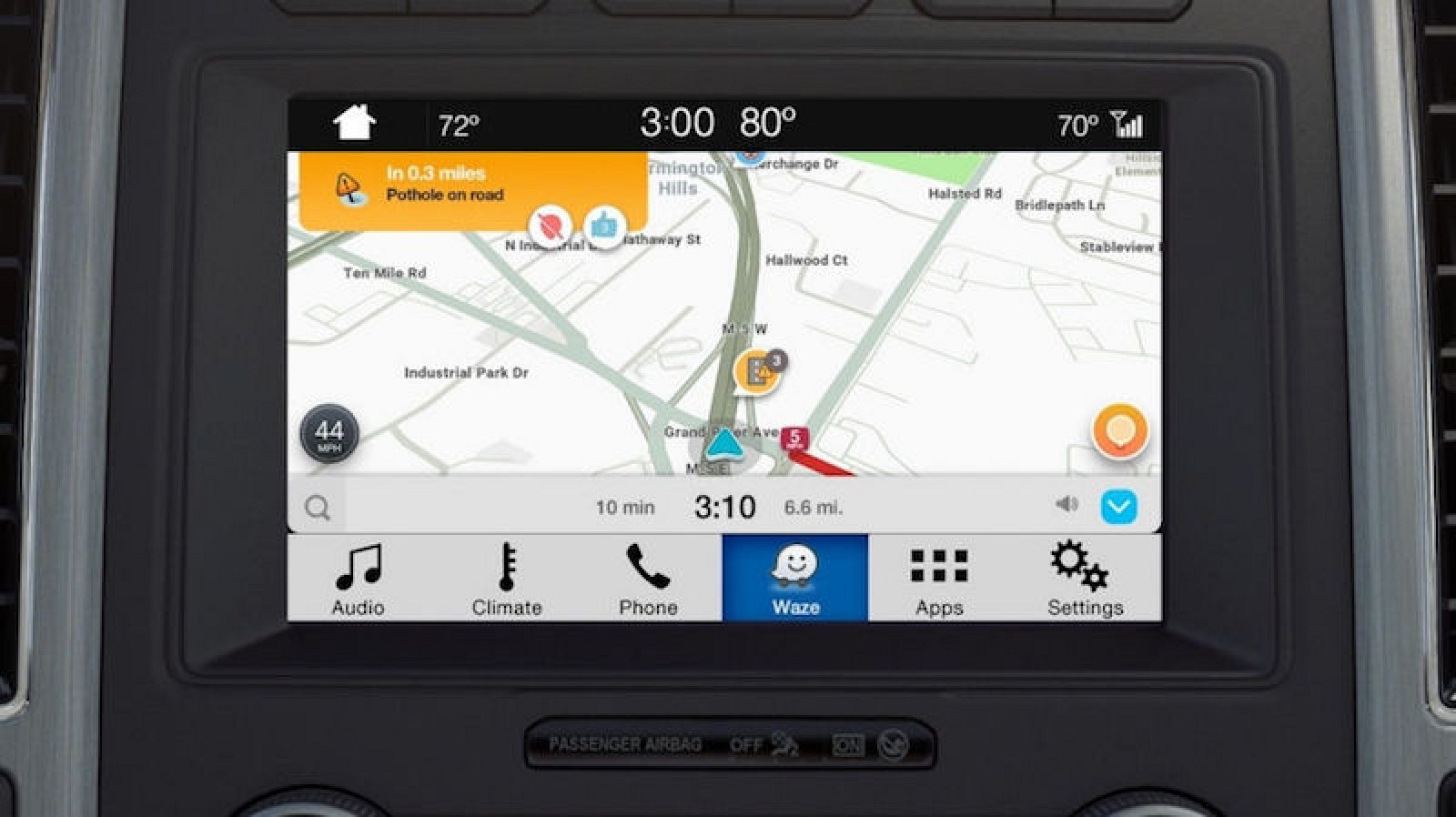 waze launches on ford 39 s sync 3 infotainment systems through ios applink macrumors. Black Bedroom Furniture Sets. Home Design Ideas