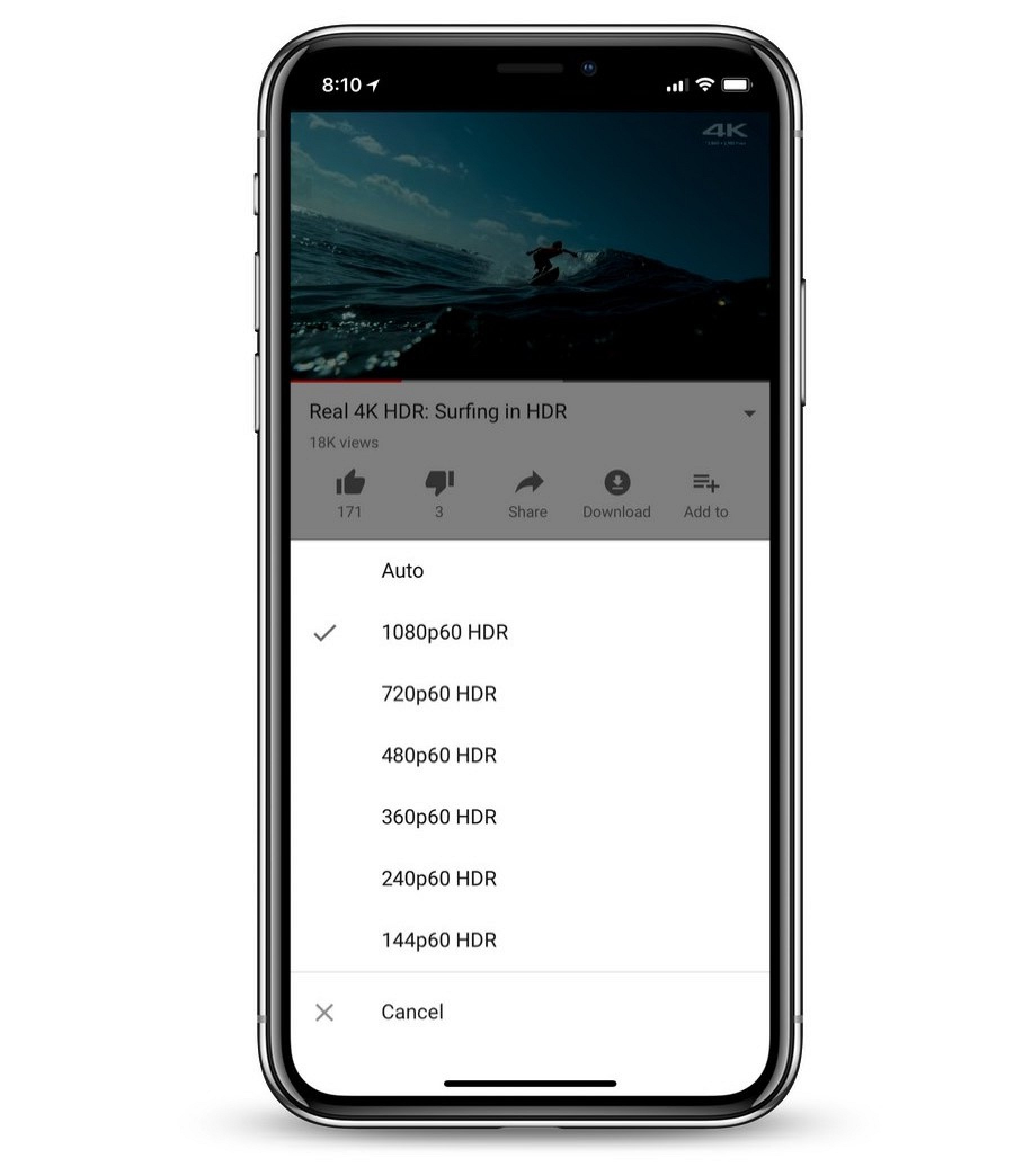 Youtube Introduces Hdr Video Support On Iphone X Mac Rumors