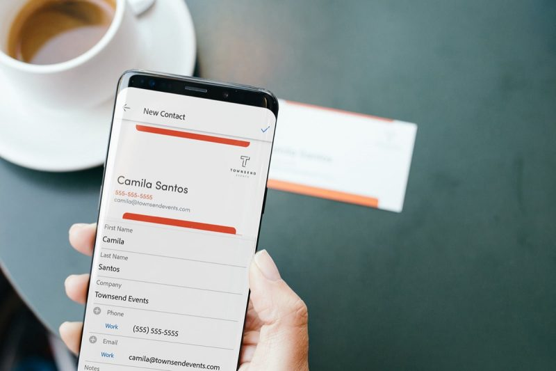 adobe scan app s latest ai feature converts business cards into