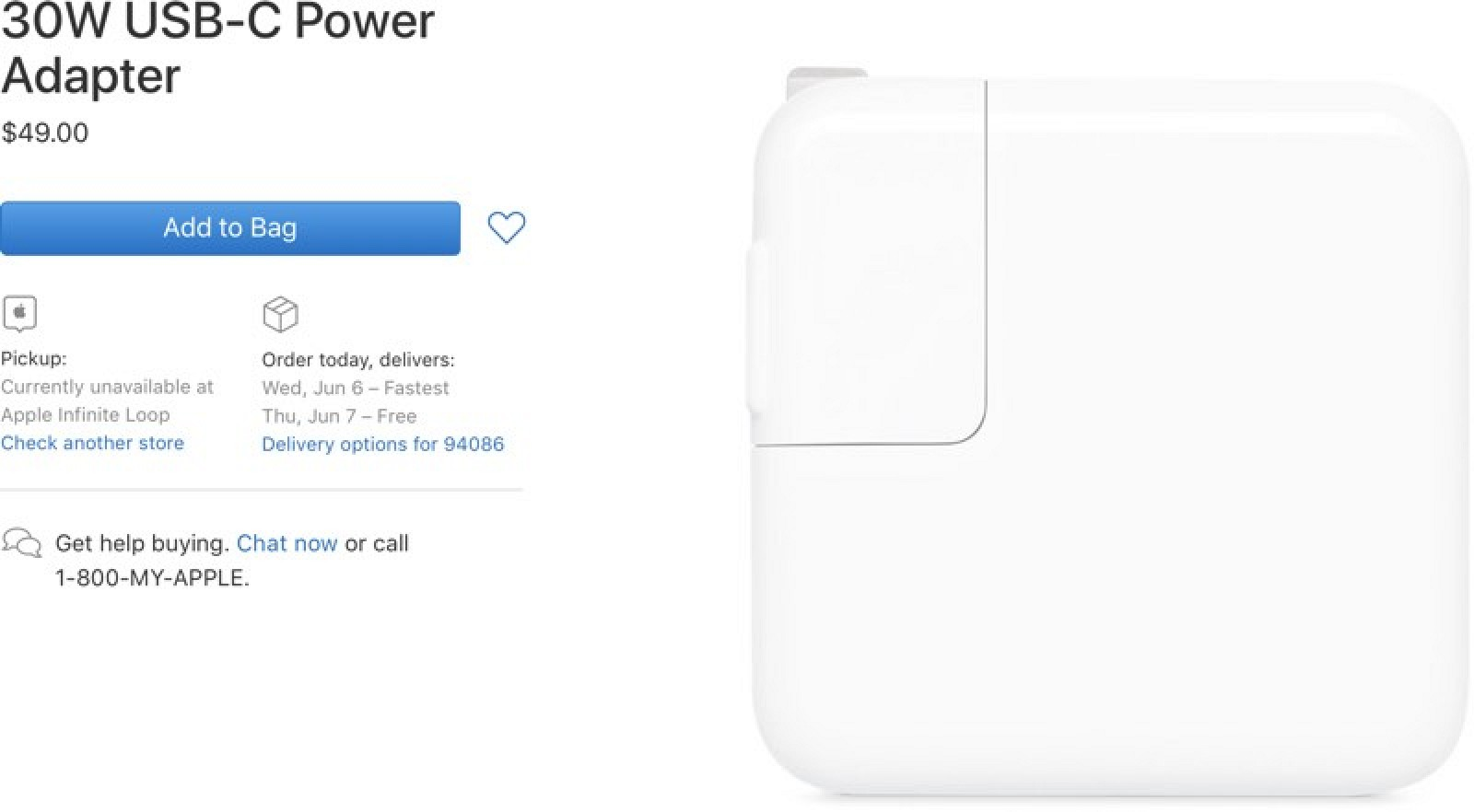 Apple Replaces 29W USB-C Power Adapter With New 30W