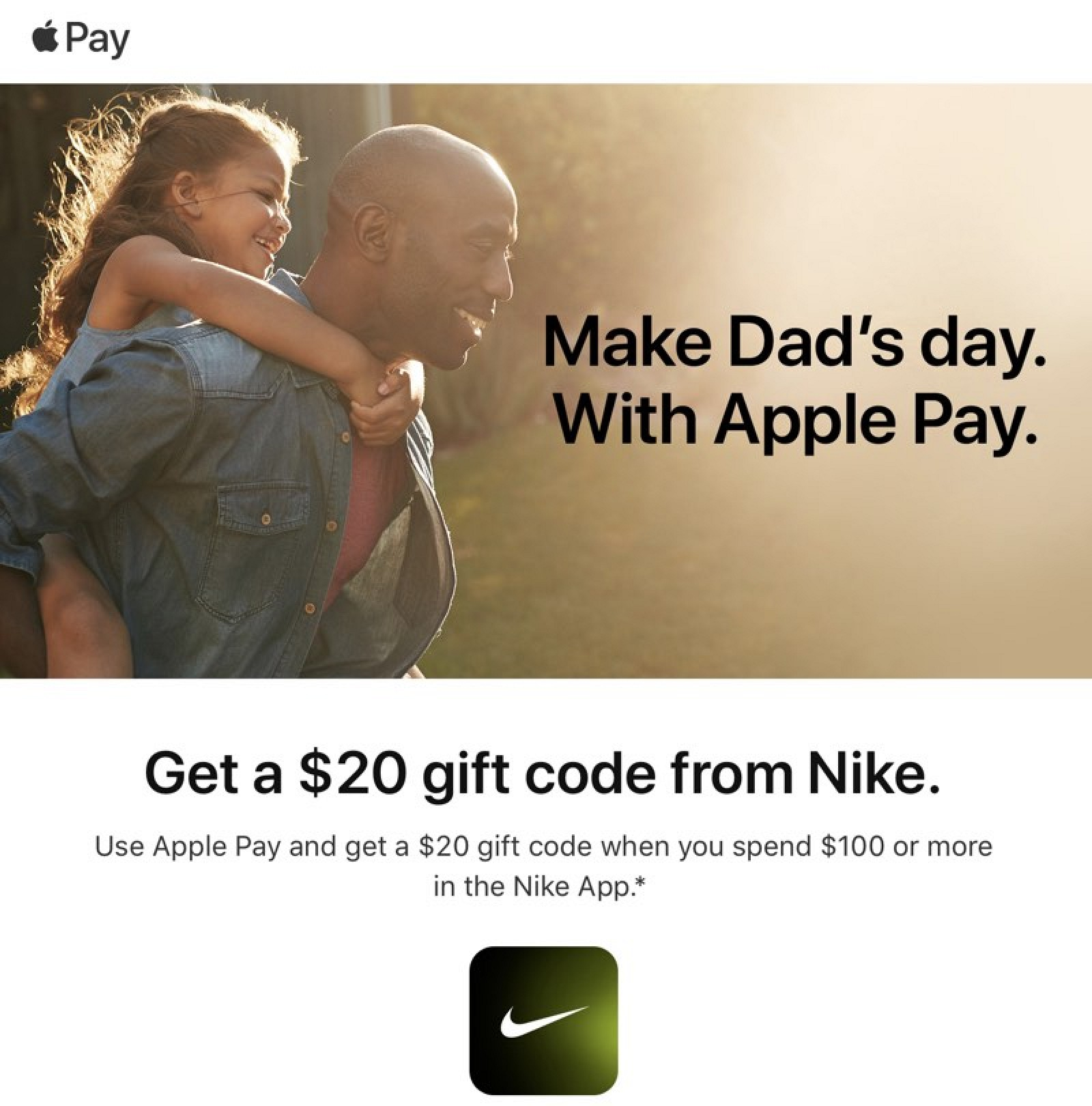 Apple Pay Promo Offers $20 Gift Code With $100+ Purchase From Nike App - MacRumors