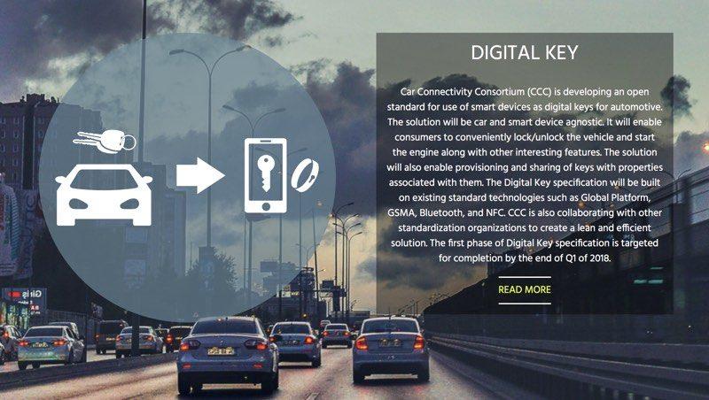Car Consortium That Includes Apple Announces Digital Car Key