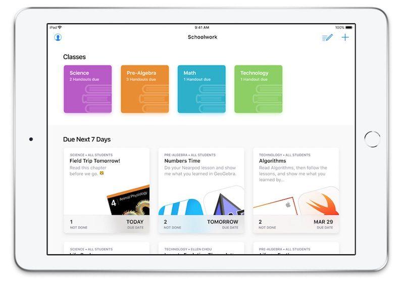 Apple's Free Schoolwork App Now Available to Teachers - MacRumors
