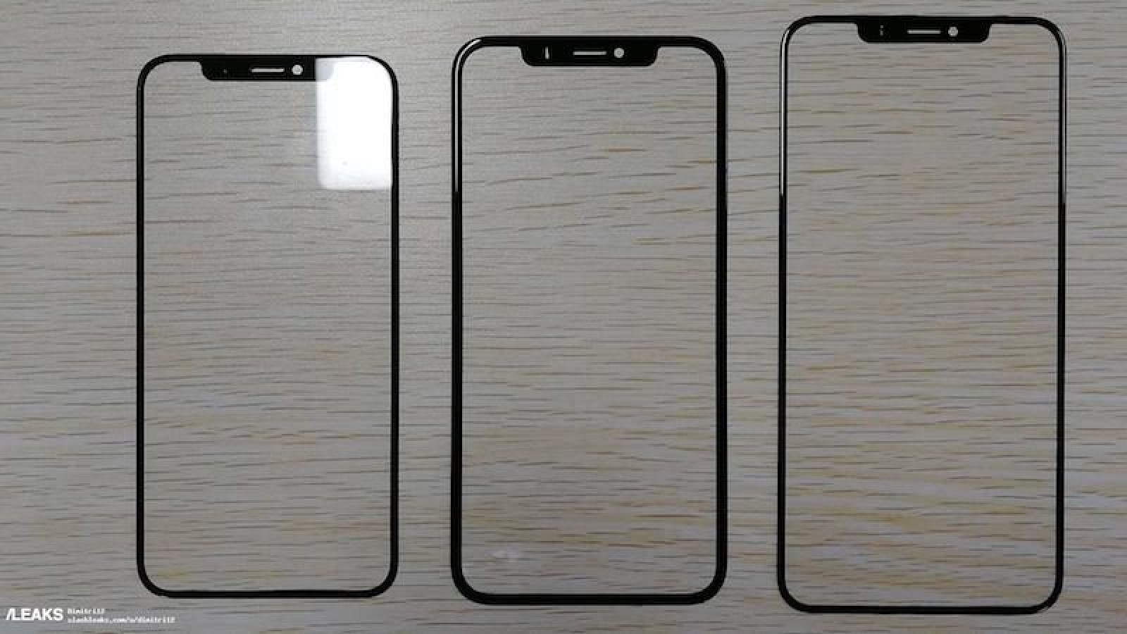 Front Glass Panels for 2018 iPhones Appear to Leak, Show Thicker Bezels on 6.1-Inch LCD Model