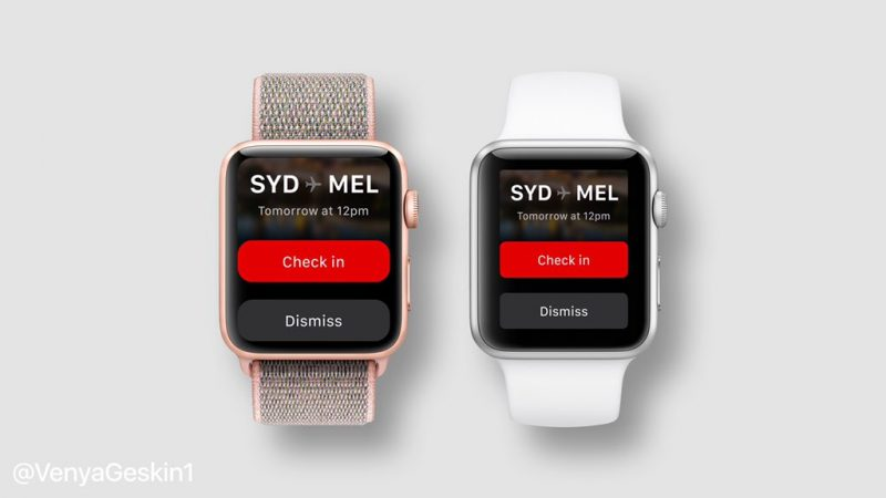 601673d175e Rumored Apple Watch Series 4 design (left) alongside Series 3 (right).  Venya Geskin created the above mockups envisioning what a larger display  could look ...