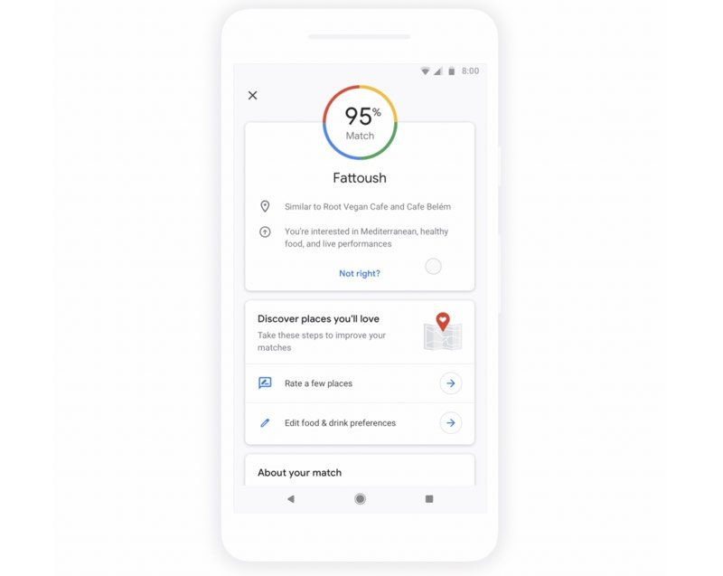 Google Maps for iOS Updated With 'Match' Customized