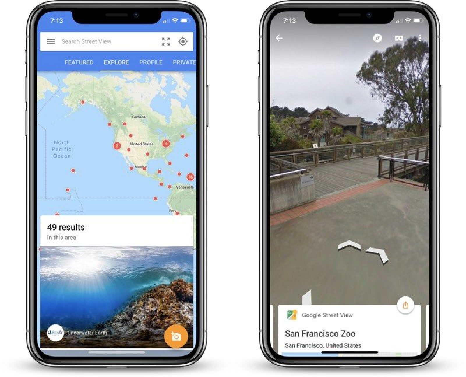 Another feature is support for Google Street View in the iPhone's Maps application.  Street View provides 360 degree panoramic views of major cities and their surrounding metropolitan areas using still photographs that have been stitched together.  Google and T-Mobile recently highlighted support...