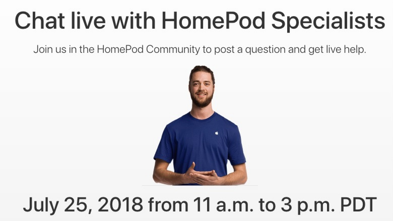 Apple Hosting Live HomePod Question-and-Answer Event on July 25