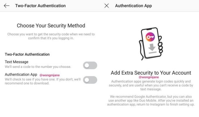 Instagram to Introduce Non-SMS Two-Factor Authentication to