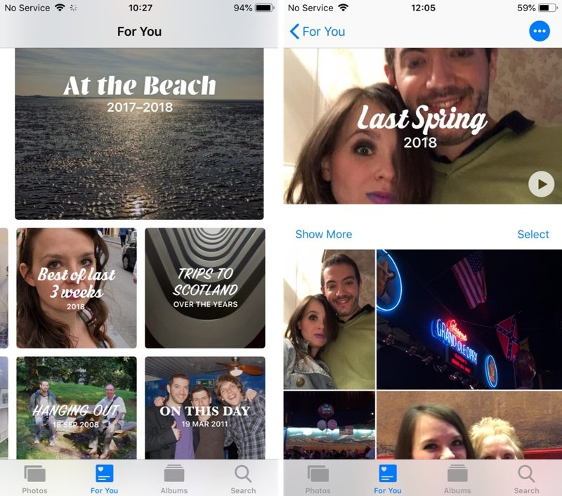 How to Use the New Photos App Features in iOS 12 - MacRumors