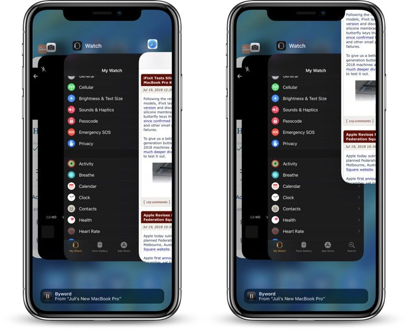 How to Close Apps on iPhone X, XR, XS, and XS Max in iOS 12