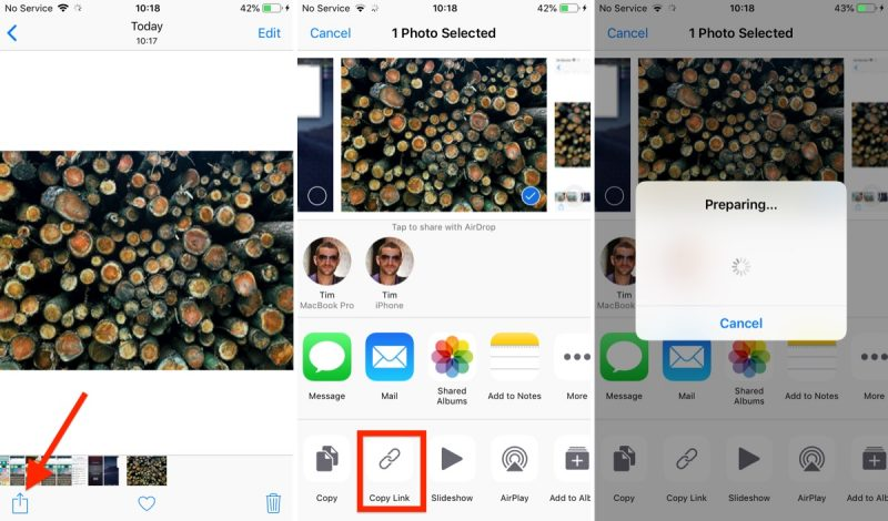 How to Share an iCloud Photo Link in iOS 12 - MacRumors