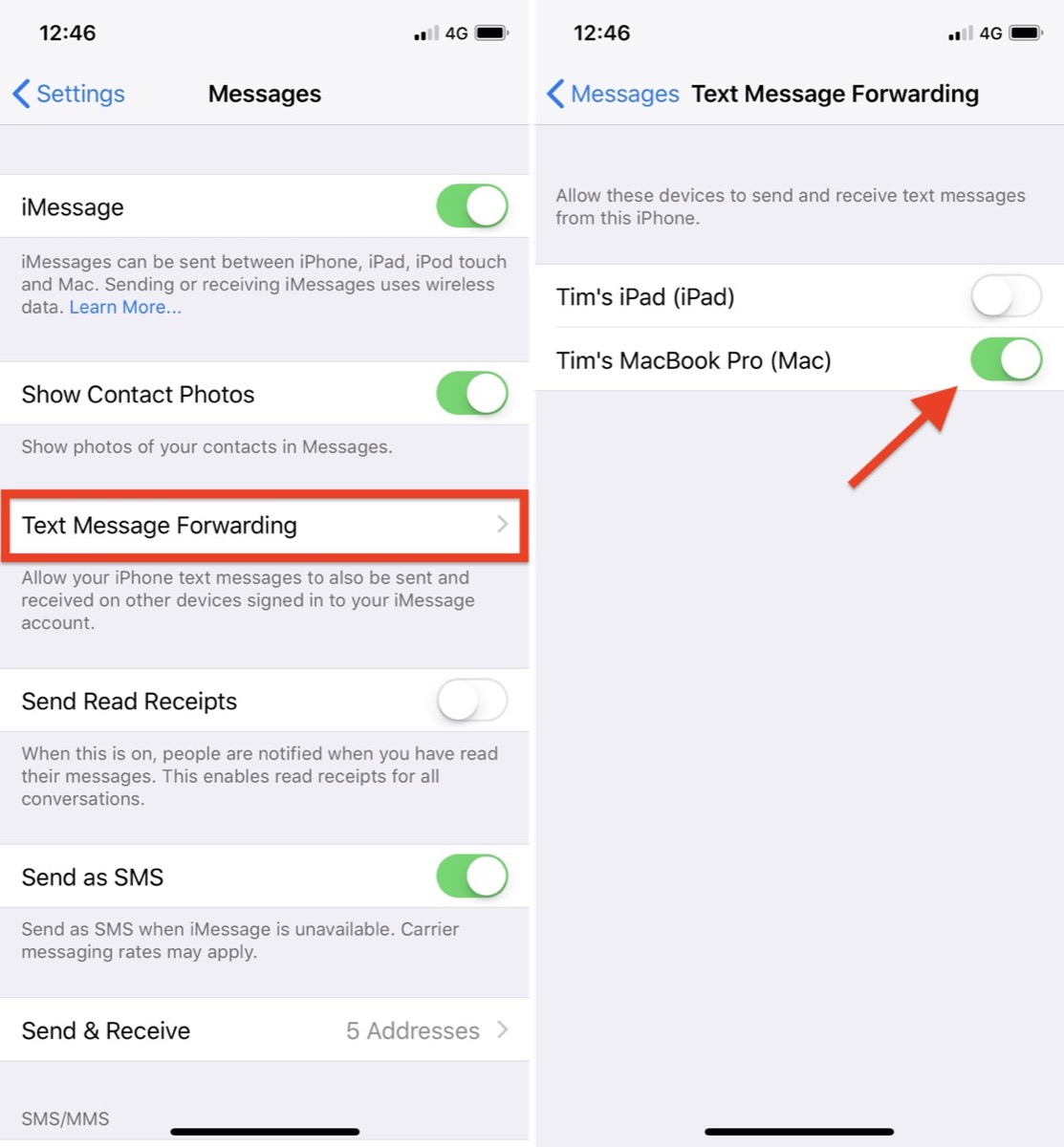 How to set up imessage on ipad air