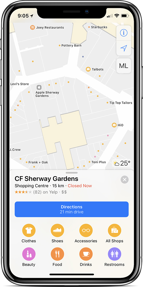 Map Of Canada Vancouver Toronto.Apple Maps Now Features Indoor Maps At 18 Shopping Malls In Canada