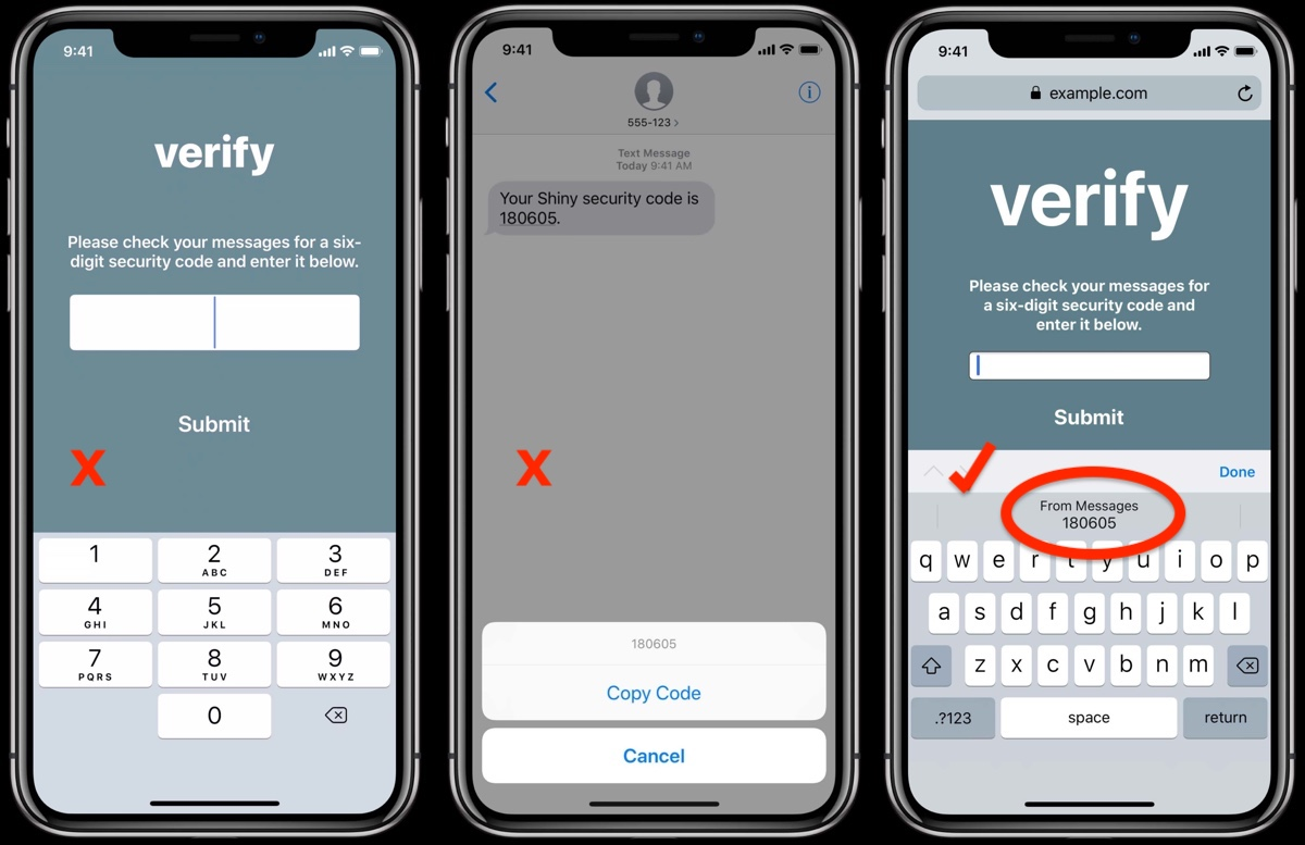How to Use Secure Code AutoFill in iOS 12 and macOS Mojave - MacRumors