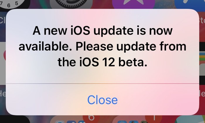 iOS 12 Users Running Current Beta Plagued With Popup Prompting an