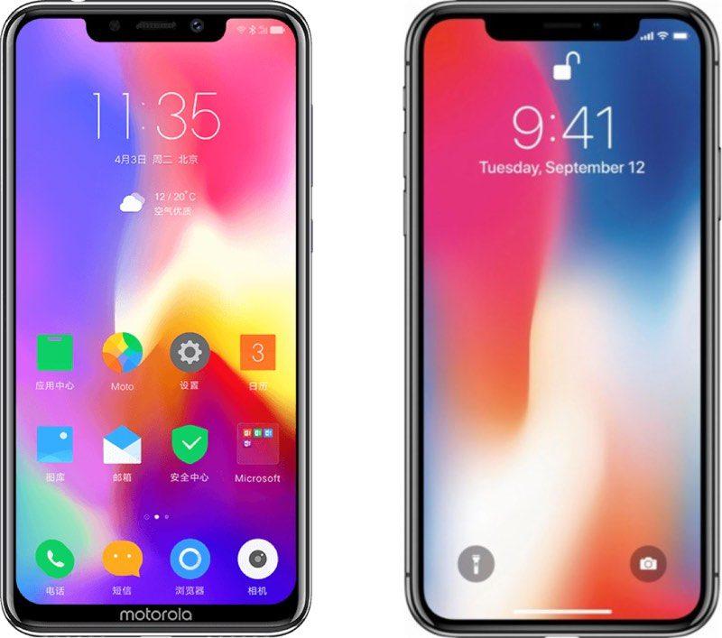 Motorola's New P30 Smartphone Blatantly Copies iPhone X