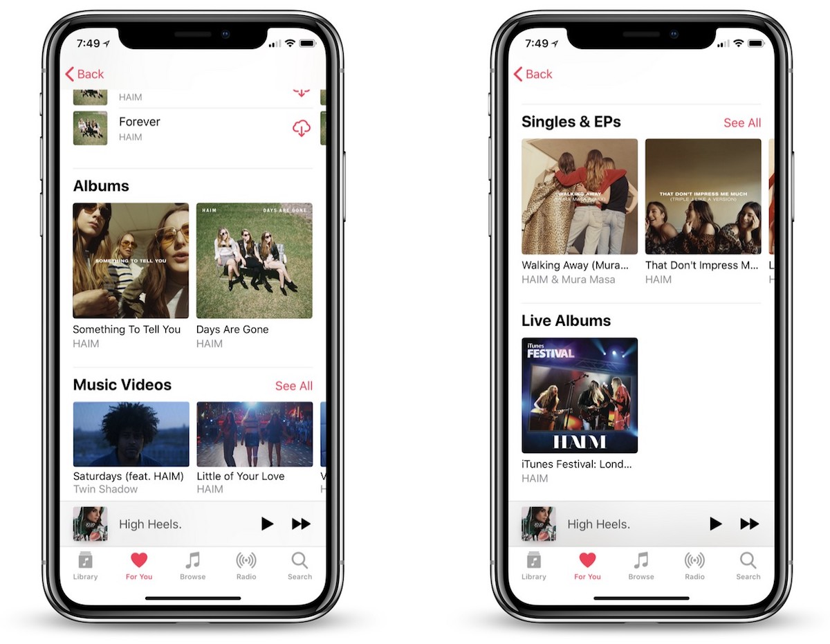Apple Music Now Separates Studio Albums From Singles & EPs
