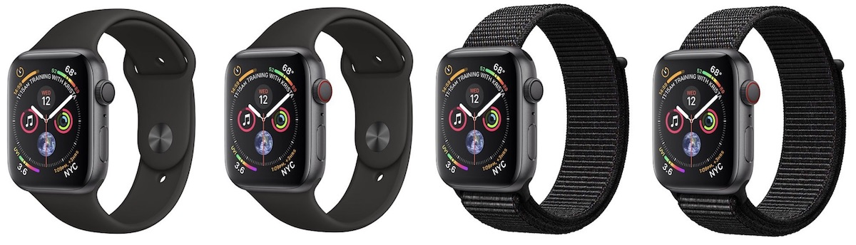 17d85519a Space Gray with Black Sport Band (GPS) - $399 for 40mm / $429 for 44mm ...