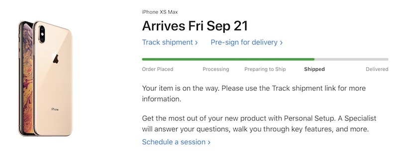 iPhone XS and iPhone XS Max Orders Now Shipping After