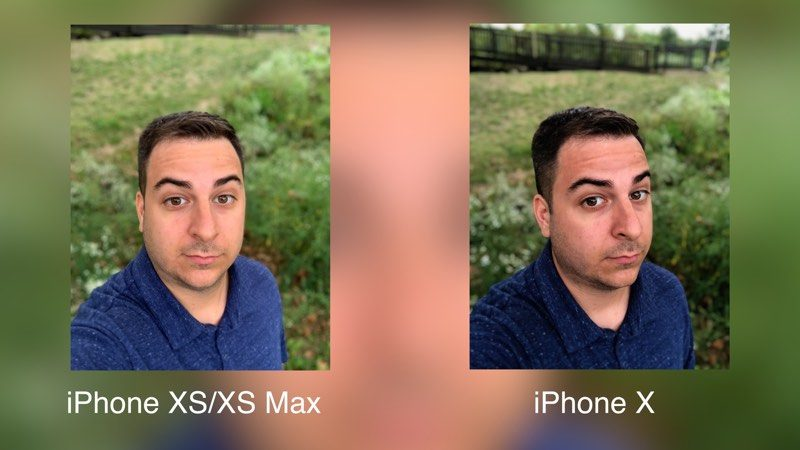 iphone xs camera compared to x