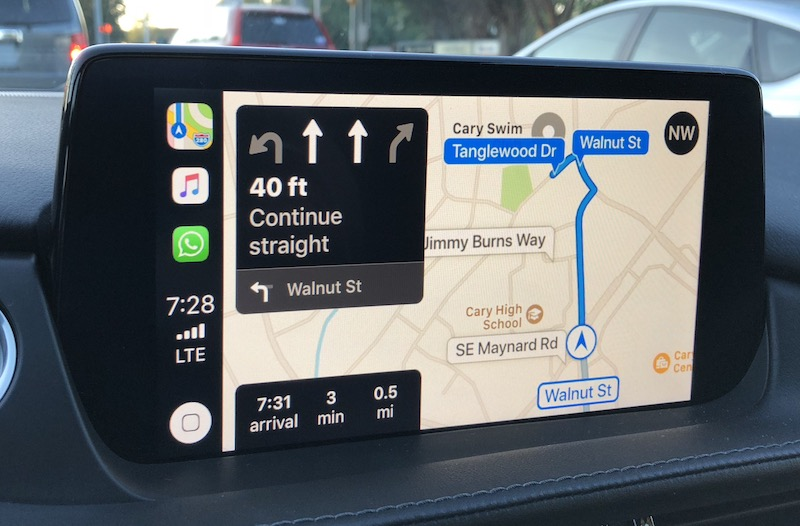 review: mazda's carplay support a welcome addition for iphone users