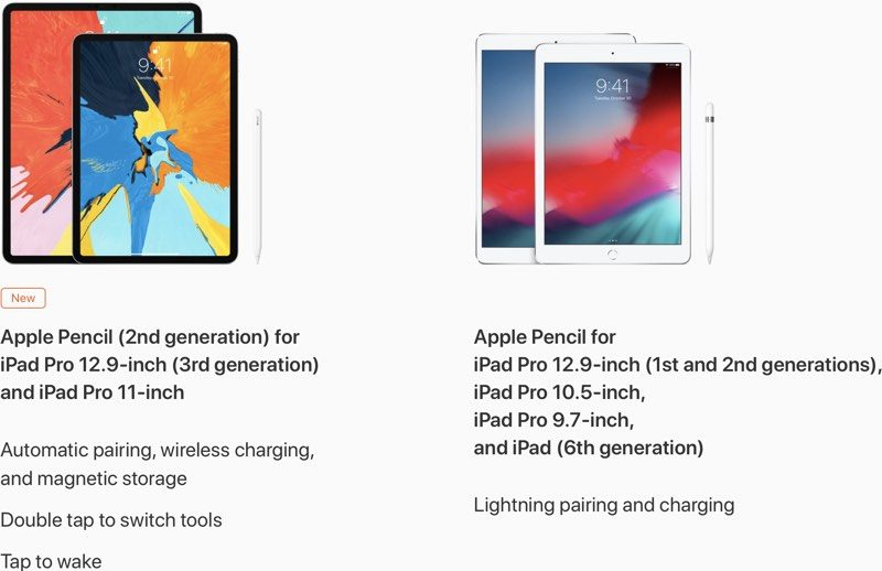 Apple Pencil 2 Not Compatible With Older Ipads And Original Apple