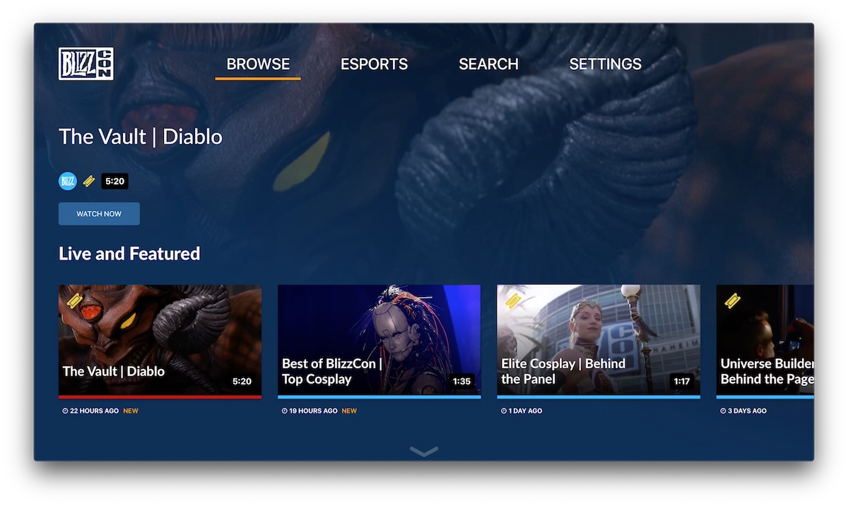 Blizzard Launches New Apple TV App for Streaming Video