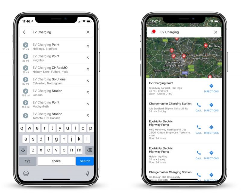 Google Maps Can Now Help Users Find Electric Vehicle ... on maps google address, google street view car, google send to car, maps driving directions by car,