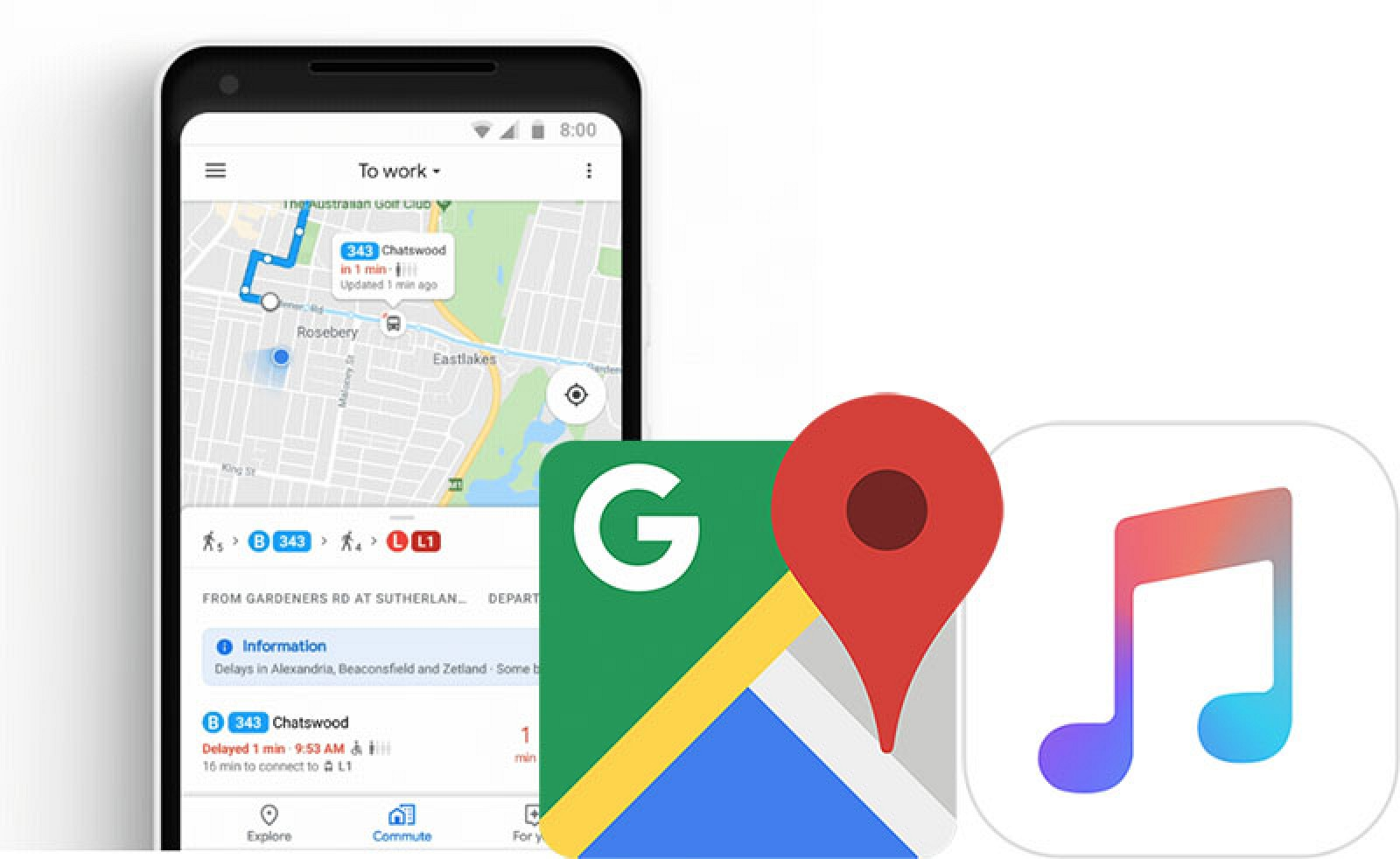 Google Maps on iPhone Getting New Commuting Features and Apple Music