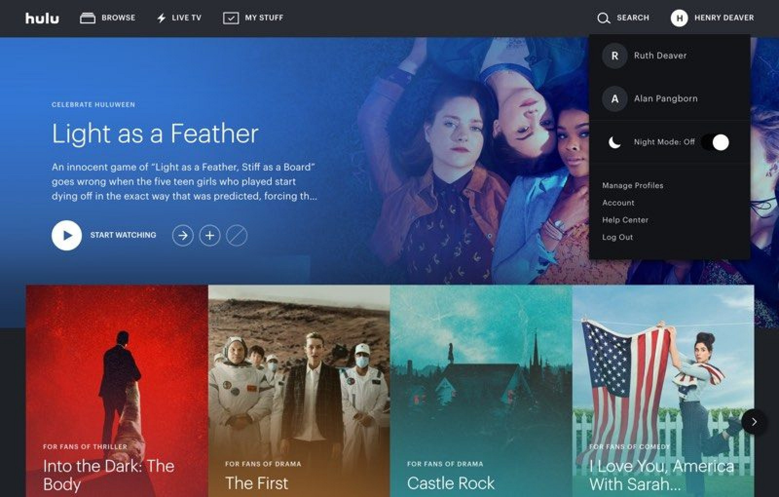 Hulu Gains Support for Night Mode on the Web