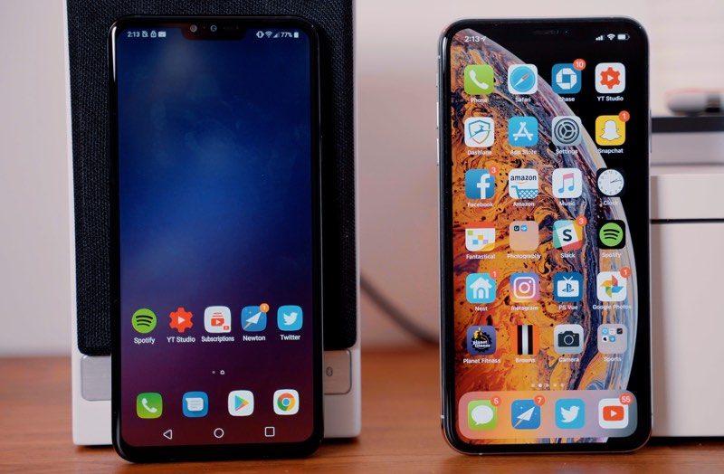 iPhone XS Max vs  LG's Newly Announced V40 ThinQ - MacRumors