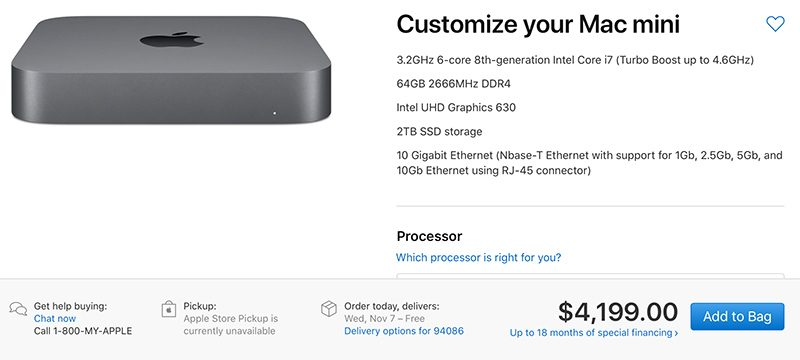 a maxed out mac mini with full upgrades will cost you 4 200