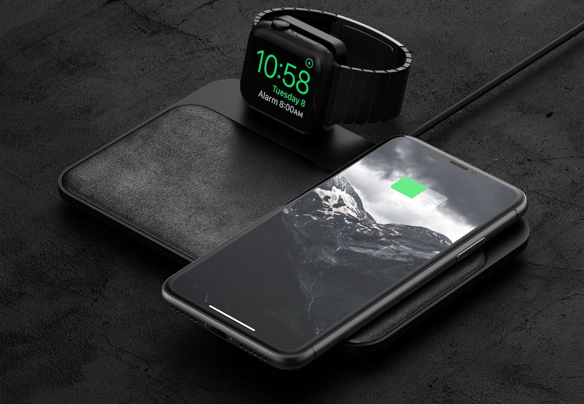 nomad updates qi compatible base station with integrated apple watch charger
