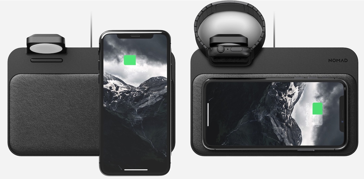 review nomad s base station lets you wirelessly charge an iphone and an apple watch in one convenient location