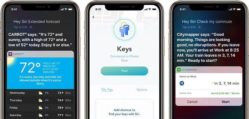 Apple Highlights Apps Offering Siri Shortcuts Integration