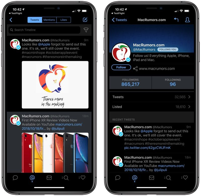 Tweetbot 5 for iOS Now Available With Refreshed Look, Dark