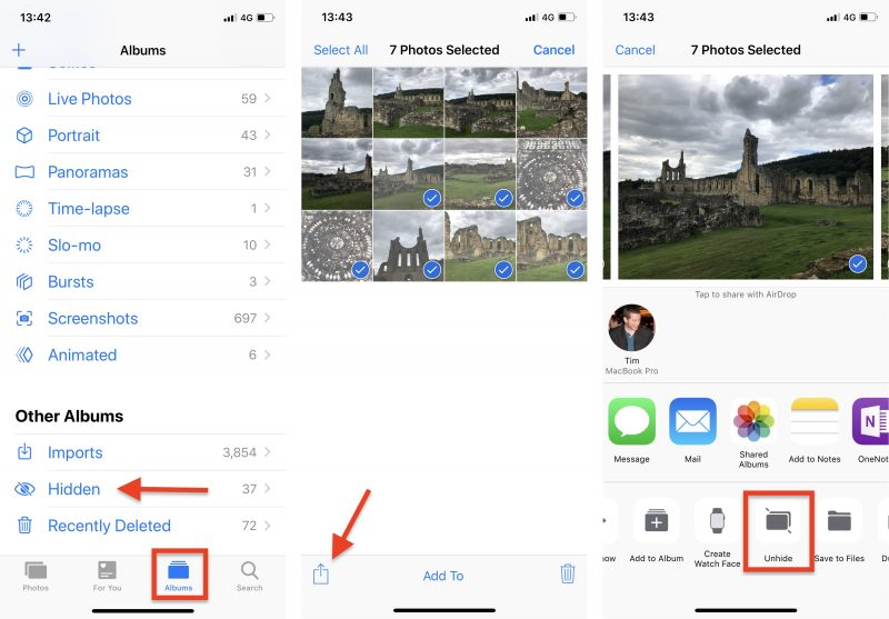 How to Hide Pictures From the Photos App in iOS 12 - MacRumors