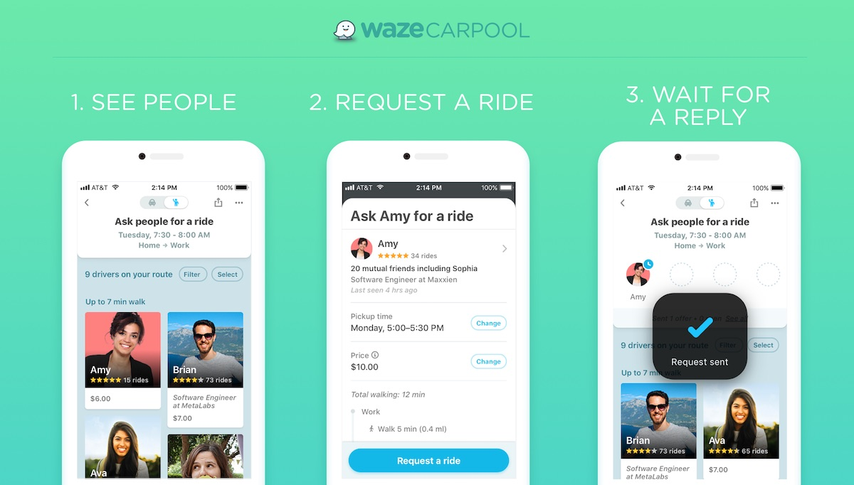 Waze Rolling Out Support for Separate Carpool App Nationwide