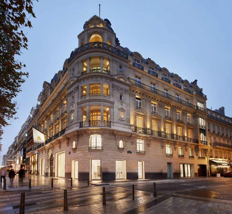 apple previews new champs elysees store in paris opening this sunday