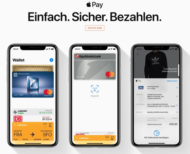 Apple Pay Is Coming Soon According To Apples Own Regional German Website Which Lists Supported Banks And Cards Including Boon Comdirect Edenred