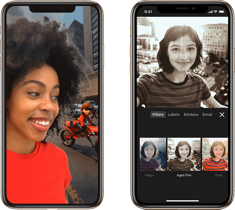 apple s clips app gains new selfie scenes filters stickers and soundtracks